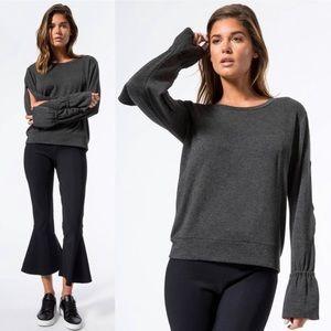 LNA Carbon38 Grey Alina Sweatshirt Anthracite Sz L